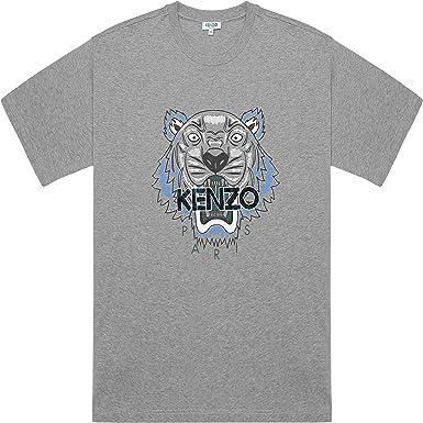 Kenzo Hombre Leopardo Tigre Gris Camiseta Algodón - ND, Grande ...