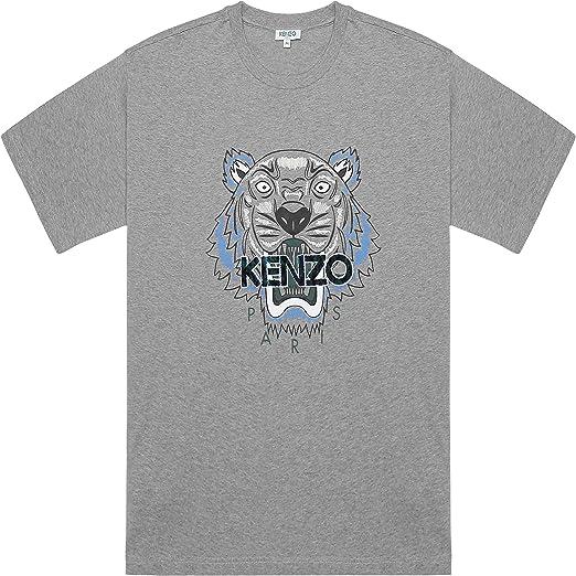 Kenzo Hombre Leopardo Tigre Gris Camiseta Algodón - ND, Grande: Amazon.es: Ropa y accesorios