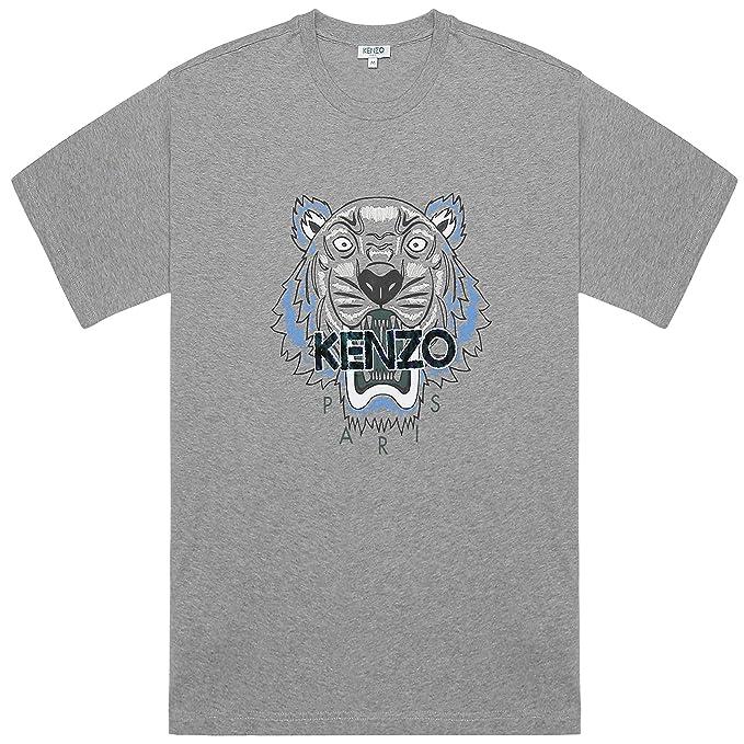 b7b06998ef Kenzo Uomo Leopardo Tigre Grigio T-Shirt di Cotone: Amazon.it ...