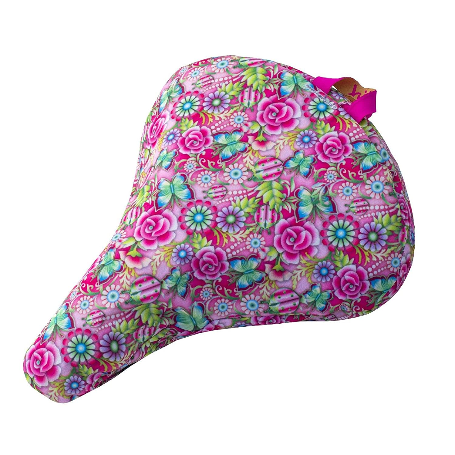 Liix Saddle Cover Catalina Estrada Flowers and Butterflies | waterproof | 600D polyester w/ PVC coating by Liix