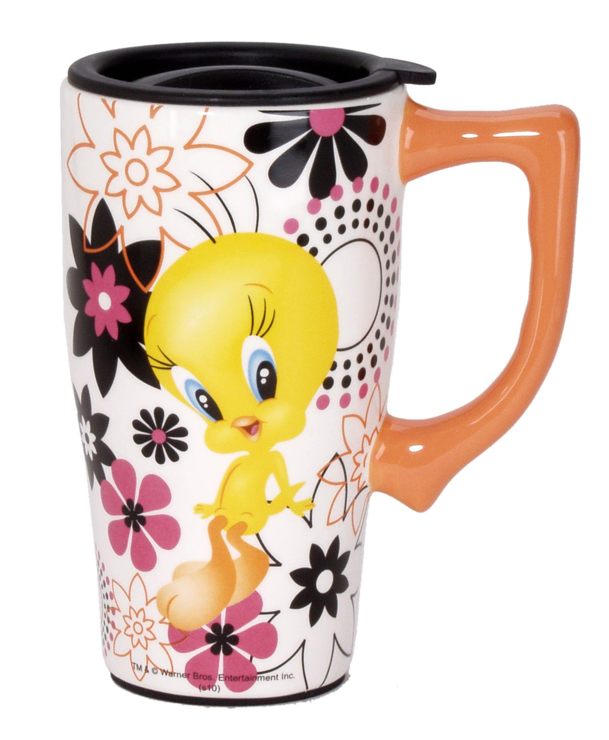 Looney Tunes Tweety Travel Mug, Multi Colored