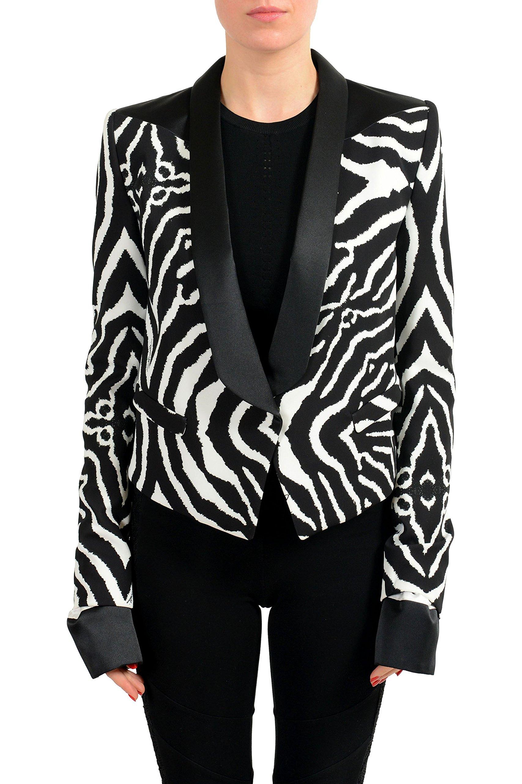 Just Cavalli Multi-Color One Button Tuxedo Style Women's Blazer US S IT 40