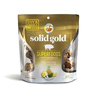 Solid Gold Superfood Dog Treats For Small & Toy Breeds; Grain Free Pork, Pineapple & Thyme; 4Oz