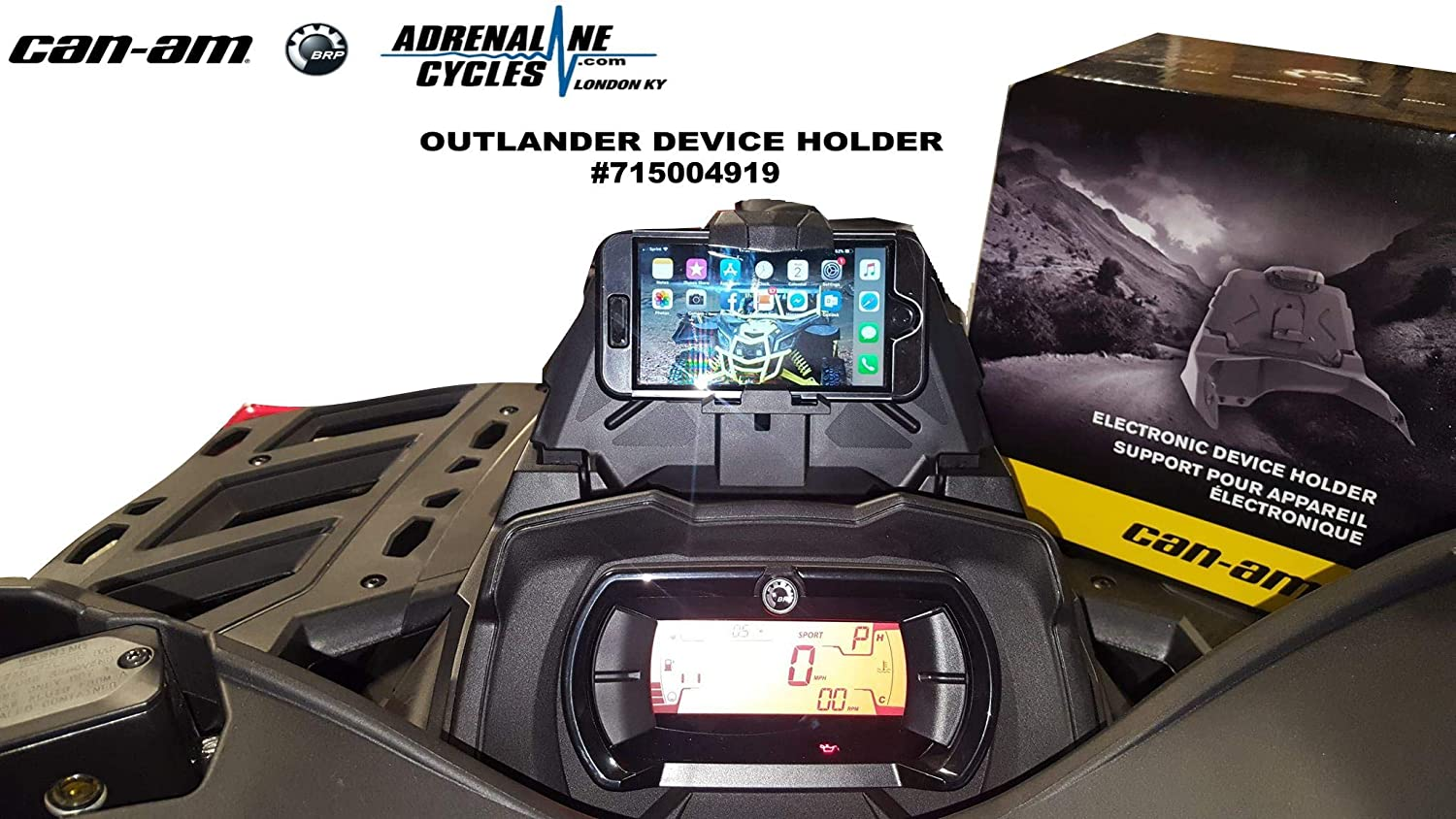 Can Am Outlander 500 650 800 1000 electronic device holder OEM NEW #715004919