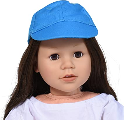 "Doll Clothes 18/"" Hat Newsboy Cap Pink Fits American Girl Dolls"