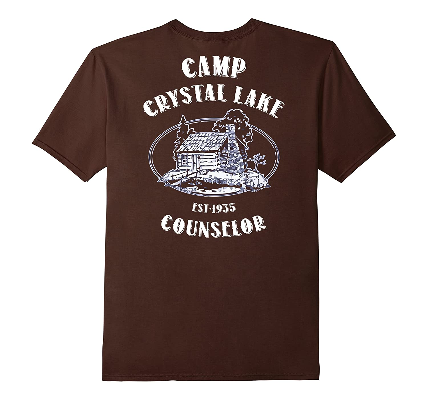 Camp shirts gifts Crystal Lake Counselor Vintage retro Back-T-Shirt