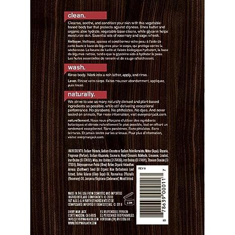 5e5dce3a7b0cdb Amazon.com: Every Man Jack Body Bar, Cedarwood, 7 Ounce: Beauty