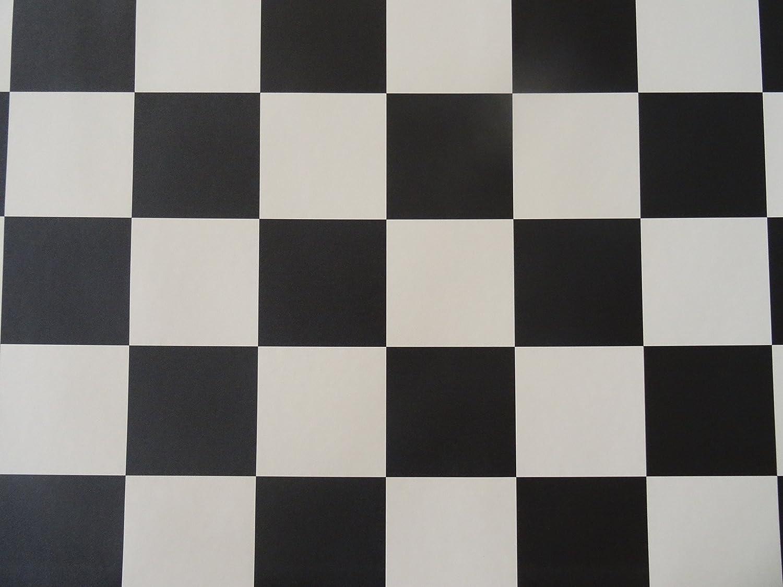 schwarz-wei/ß von Alpha-Tex 9.95/€//m/² PVC in Schachbrett-Optik L/änge: 100 cm, Breite: 200cm