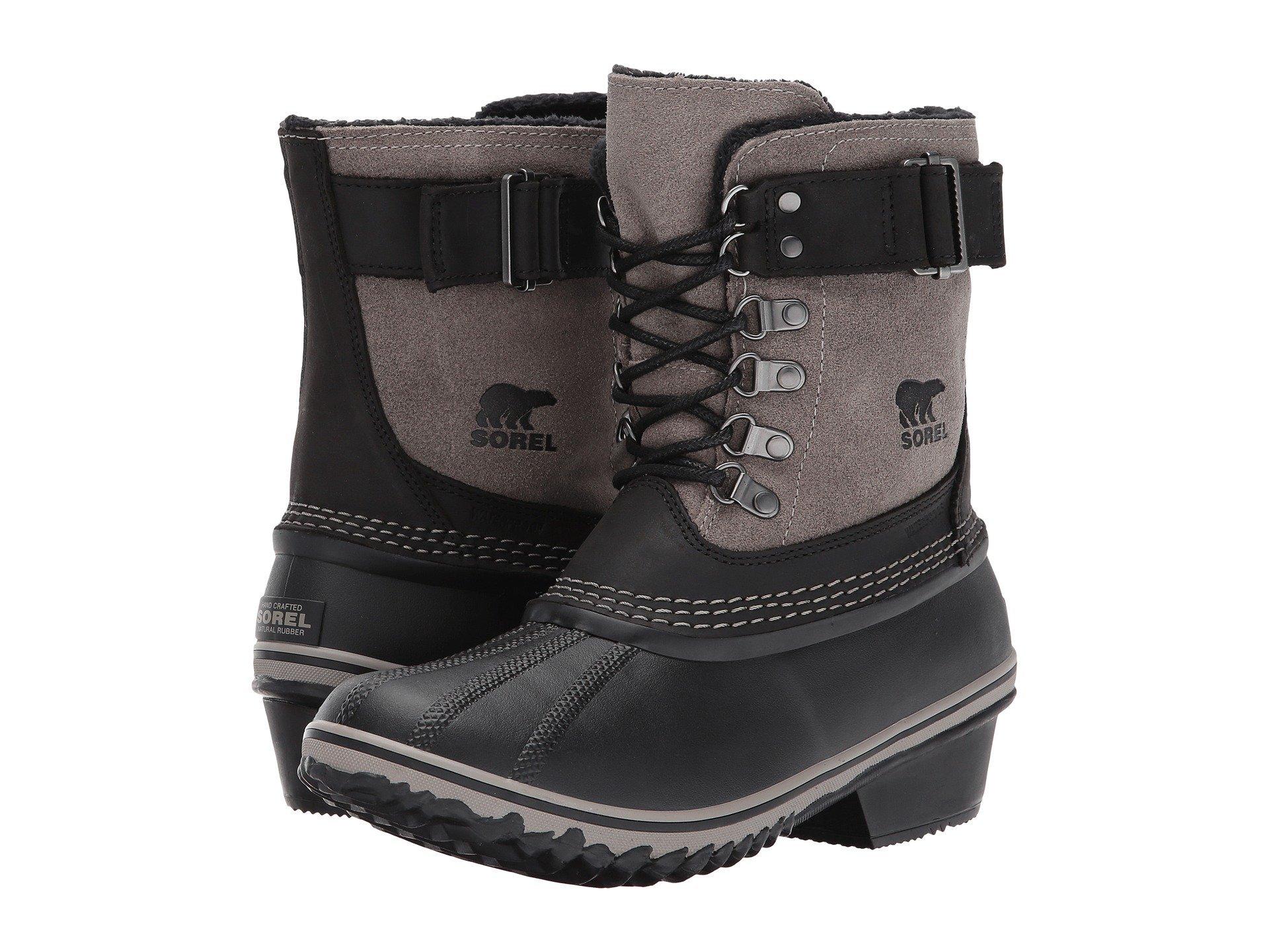 SOREL Women's Winter Fancy Lace Ii-w Snow Boot (39 M EU/8 B(M) US, Black, Kettle)