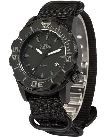 SHARK ARMY SAW193 - Reloj Hombre de Cuarzo, Correa de Nylš®n: Amazon.es: Relojes