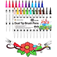 Rotuladores Lettering Brush Pen 24 Colores Rotuladores Acuarelables Marcadores para Bullet Journal Adultos Lettering…