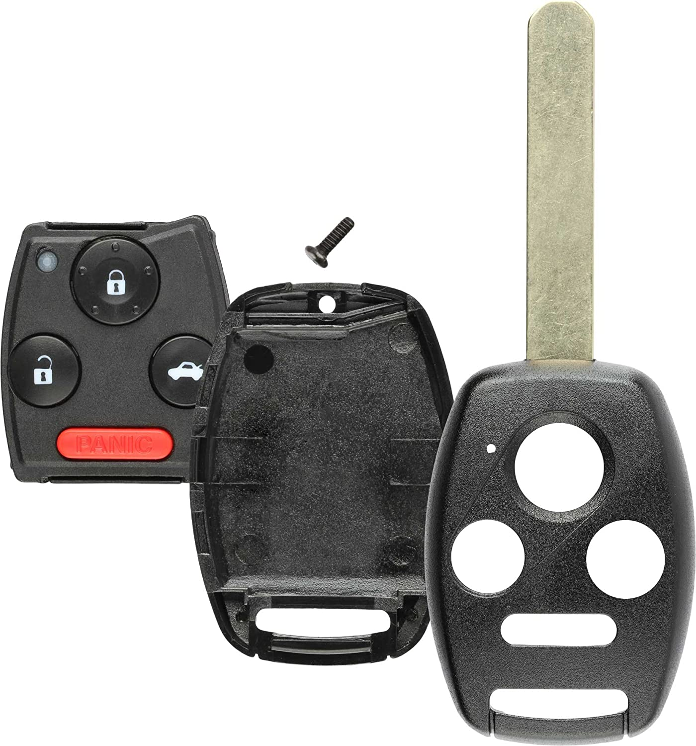 N5F-S0084A MLBHLIK-1T Discount Keyless Replacement Uncut Key Shell and Gut Case and Pad Compatible with Honda Civic Accord Pilot KR55WK49308