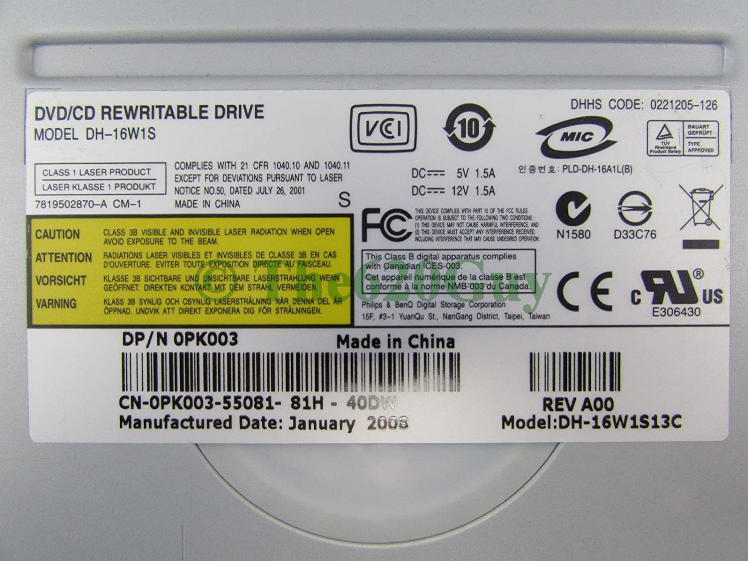 DH-16W1S DRIVERS FOR MAC DOWNLOAD