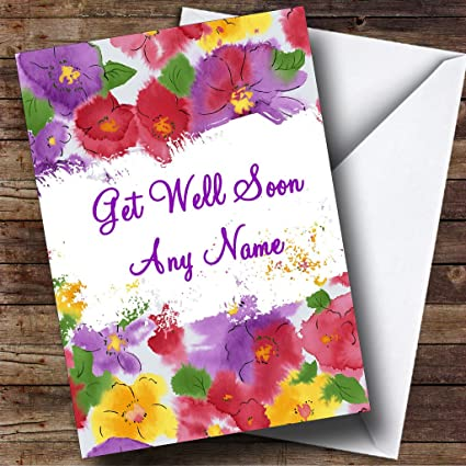 Amazon beautiful flowers personalized get well soon greetings beautiful flowers personalized get well soon greetings card m4hsunfo