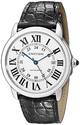 CARTIER RONDE SOLO DE CARTIER RELOJ DE HOMBRE AUTOMÁTICO 42MM DE CUERO W6701010: Amazon.es: Relojes