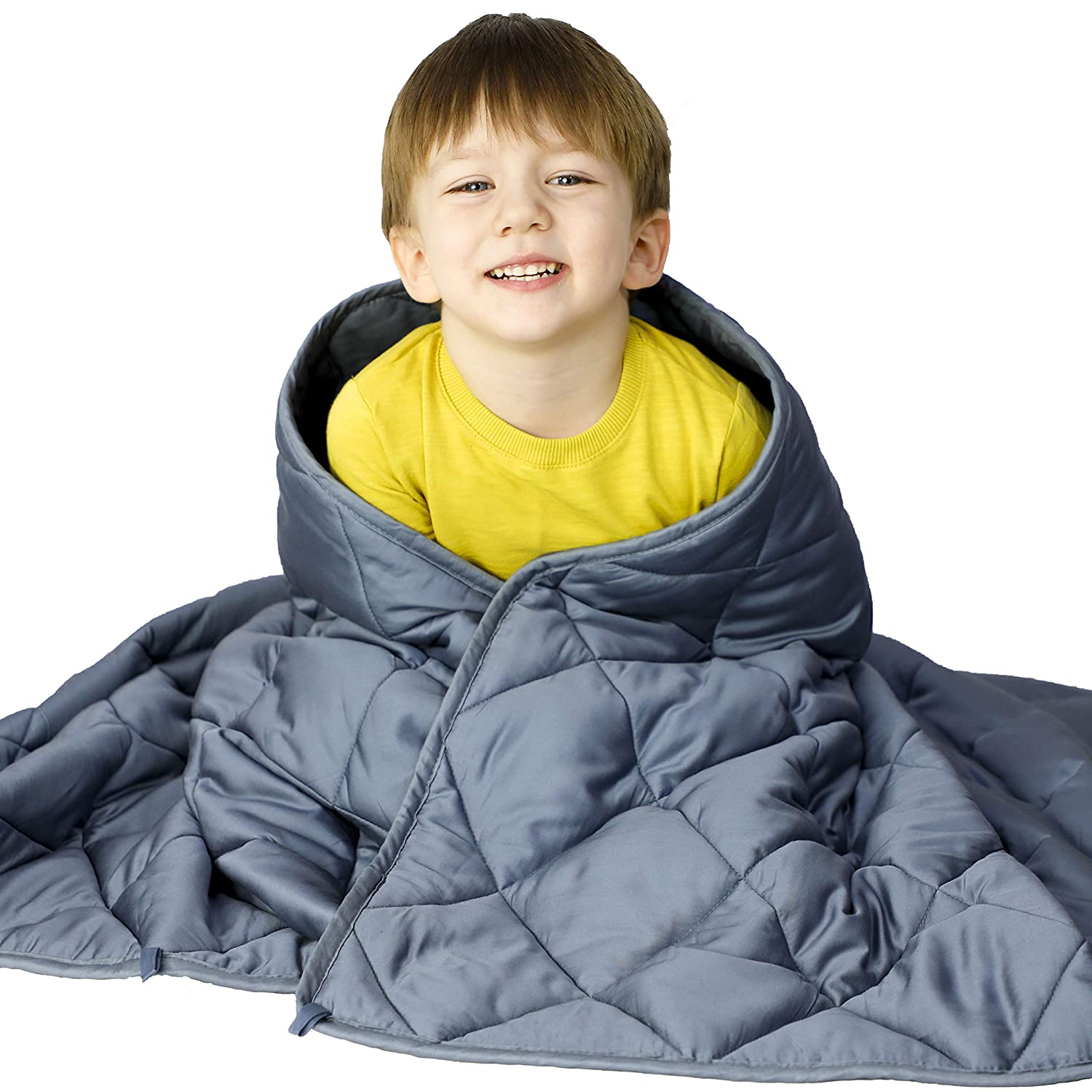 "WONAP Cooling Weighted Blanket for Kids | 100% Natural Bamboo Viscose | 10 lbs | 41""x60"" 