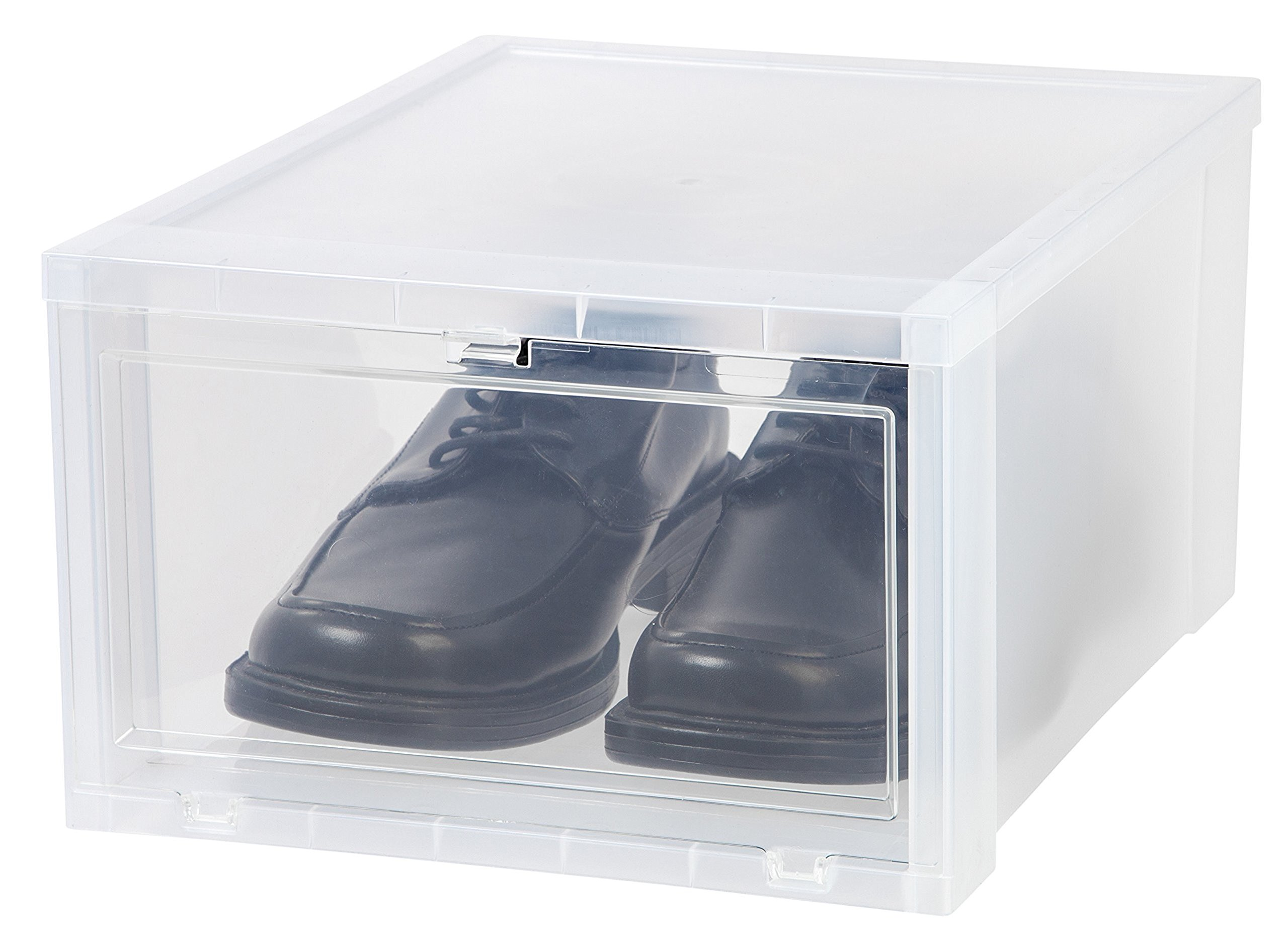 Galleon Iris Large Drop Front Shoe Box 6 Pack Clear