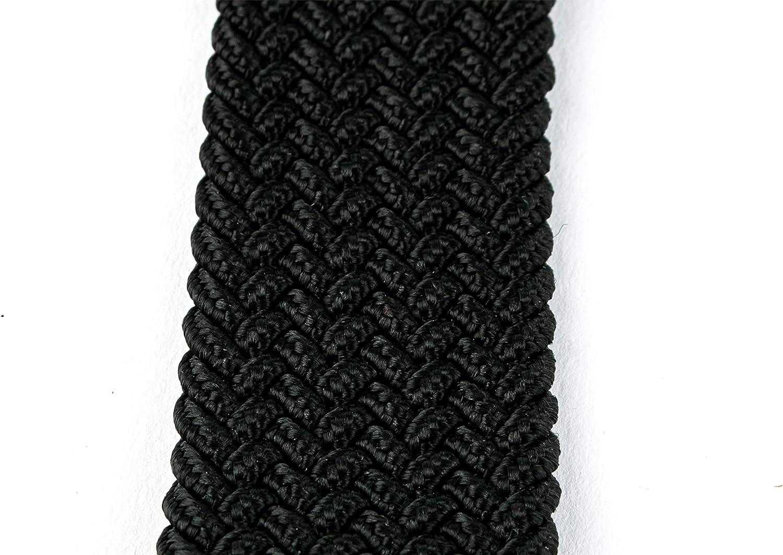 HW 1 Ceinture /élastique tress/ée et extensible Noir Longueur totale 120 cm et largeur 3,5 cm