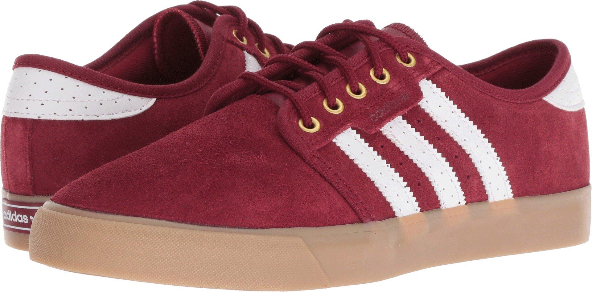 on sale eb495 3e4cc Galleon - Adidas Originals Men s Seeley Skate Shoe, Collegiate Burgundy  White Gold Metallic, 9 M US