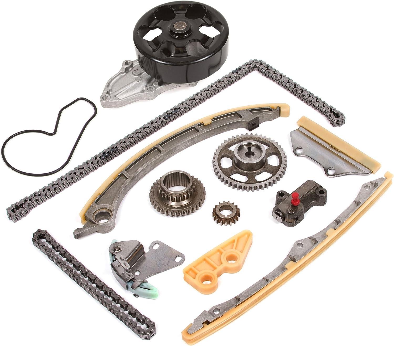 Element 2.4 DOHC 16V Vtec K24A4 K24A8 K24Z1 Timing Chain Kit Water Pump Fits 02-09 Honda Accord CR-V
