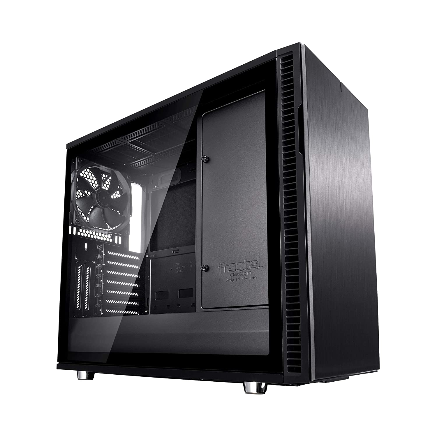 Fractal Design Define R6 USB-C - Mid Tower Computer Case - ATX - Optimized for High Airflow and Silent Computing with Moduvent Technology - Modular Interior - Water-Cooling Ready - Blackout Tg