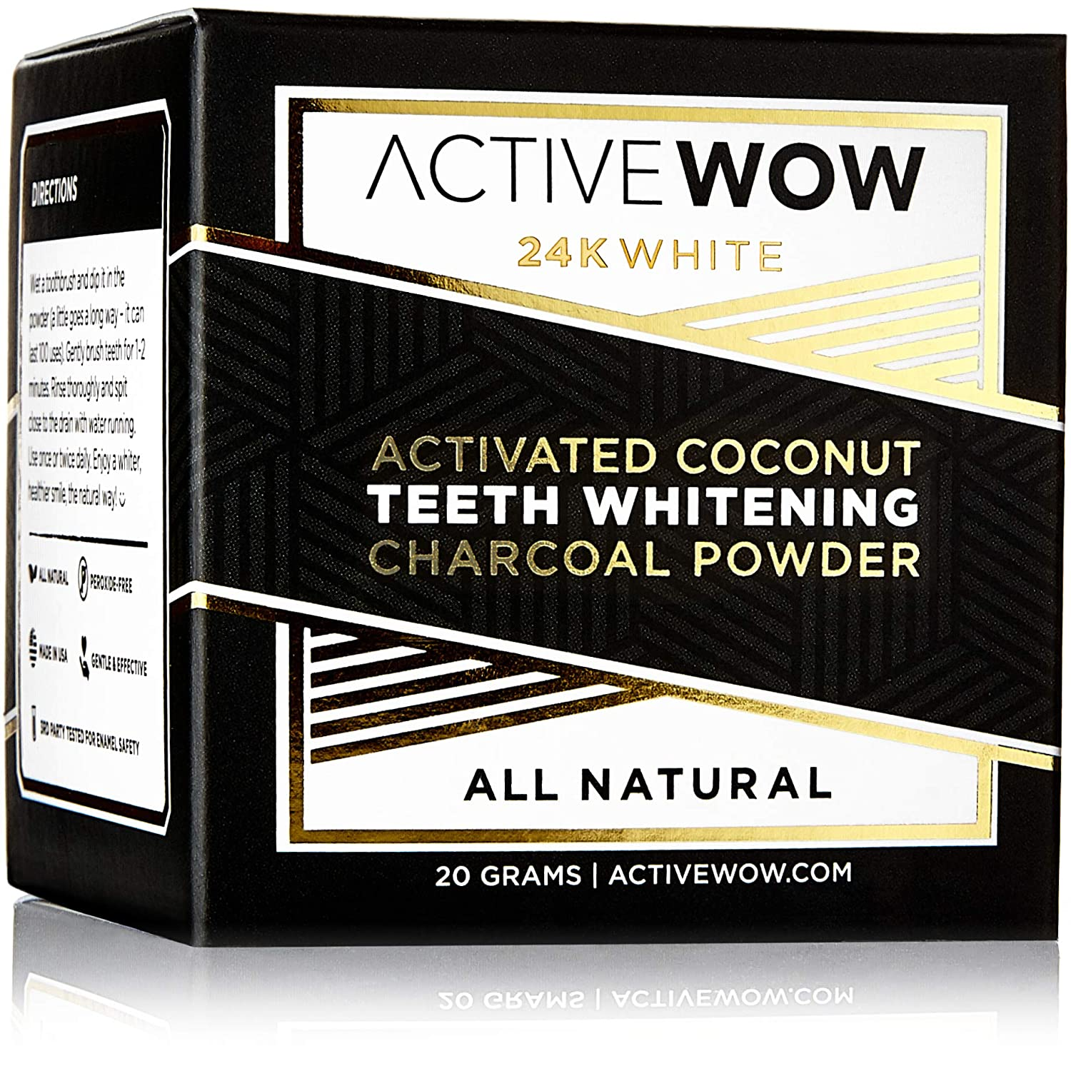 Active Wow Teeth Whitening Charcoal Powder Natural best whitening strips consumer reports