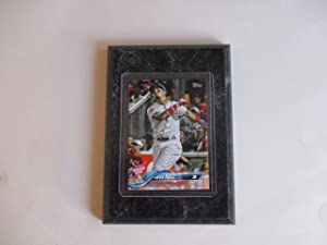 JAVIER BAEZ CHICAGO CUBS 2018 MLB TOPPS HOME RUN DERBY PLAYER CARD MOUNTED ON A 4