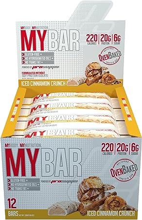 Pro Supps - MyBar al horno crujiente de canela helado barra de proteína - 12 Bares