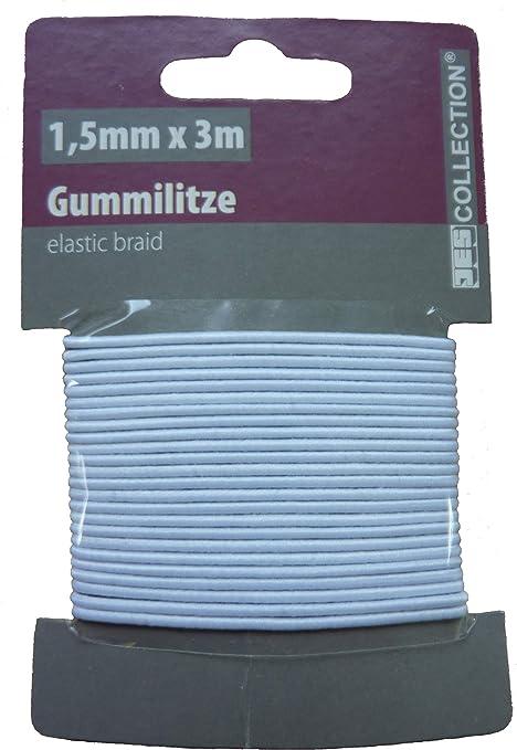 1,00€//m Gummikordel 5m Rundgummi Ø2,5 mm weich Gummiband Elastisch Gummilitze