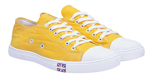 23a74db47be3cd Boysons men yellow stylish sneakers canvas shoes-6  Buy Online at Low  Prices in India - Amazon.in