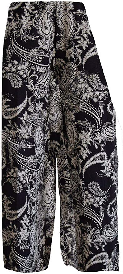 New Ladies Floral Printed Palazzo Trousers Summer Wide Leg Pants Women Plus Size