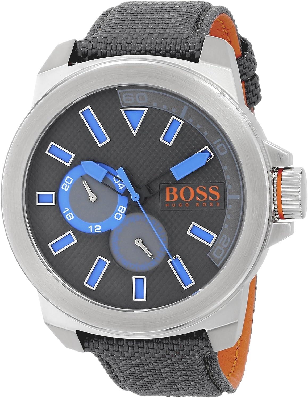 BOSS Orange Men s 1513013 New York Analog Display Quartz Grey Watch