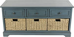 Décor Therapy Montgomery Bench, Antique Navy