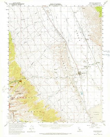 Amazon Com Yellowmaps Lone Pine Ca Topo Map 1 62500 Scale 15 X 15