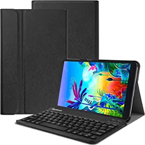 KuRoKo LG G Pad 5 10.1 Wireless Keyboard Case- Backshell Folio Stand Cover with Removable Wireless Keyboard Compatiable with LG G Pad 5 10.1 (Black)