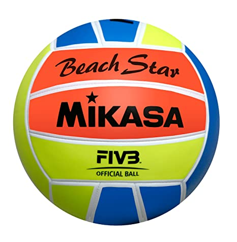 Mikasa Pelota de Playa Star, Colores fosforitos, 5, 1633: Amazon ...
