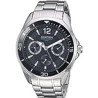 Armitron 20/5297BKSV - Reloj de pulsera multifunción para hombre, color plateado