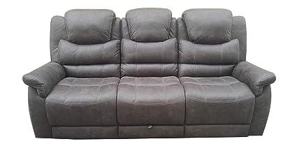 Amazon.com: Coaster Wyatt Reclining Sofa in Gray: Kitchen ...