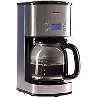 Ultratec Cafetière à filtre KM-30 programmable, acier inoxydable/noir, 1 000 watts de puissance