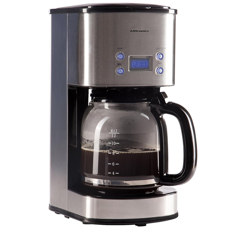 Ultratec Macchina del caffè con filtro KM-30 e timer, acciaio inox/nero, potenza 1.000 watt Summary 331400000693