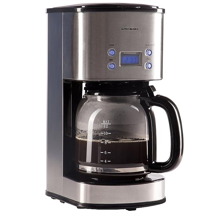 13 opinioni per Ultratec Macchina del caffè con filtro KM-30 e timer, acciaio inox/nero, potenza