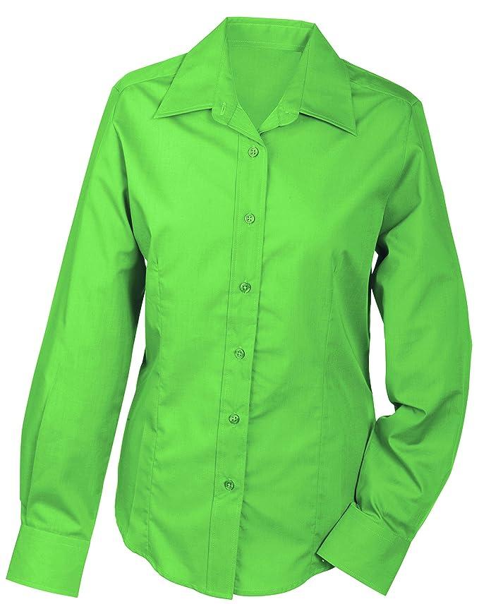 JAMES & NICHOLSON Ladies' Promotion Long-Sleeved, Blouse Femme: Amazon.fr:  Vêtements et accessoires