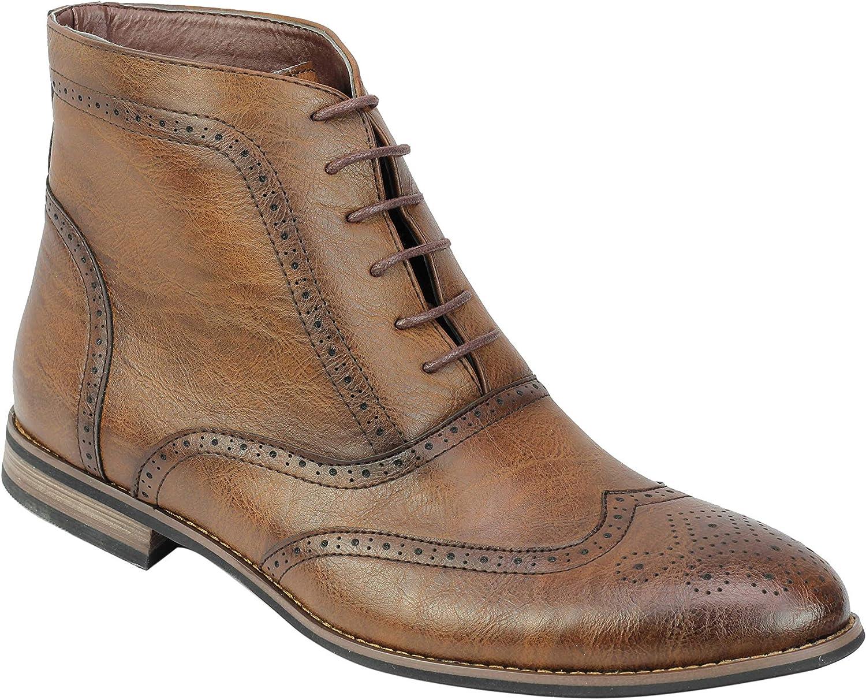 Mirada Apenada Vintage De Las Botas De Cuero De Imitación Inteligente Encaje Formal De Los Hombres De Los Zapatos hasta Brogue