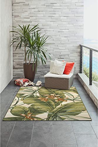 Liora Manne Marina Indoor Outdoor Rug, 8 10 x 11 9 , Tropical Leaf