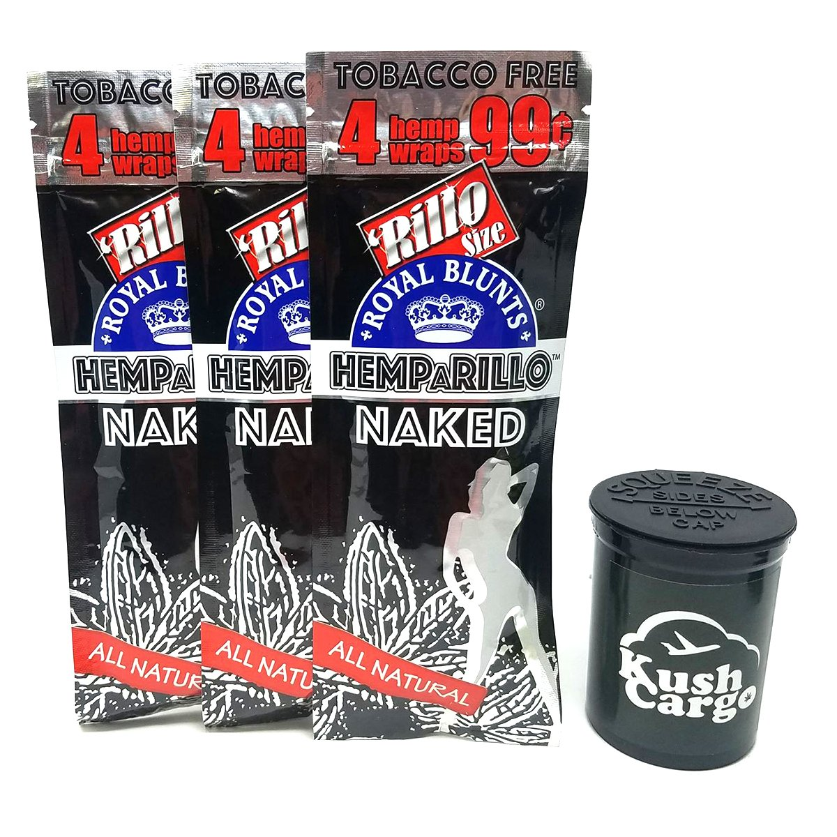 HEMPaRILLO Naked Unflavored Hemp Wraps with KC Pop Top (6 Packs)