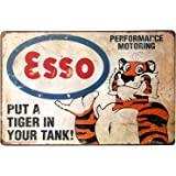 ARTCLUB Put A Tiger In Your Tank Fun Saying Metal Tin Sign, Vintage Poster Plaque Gas Station Garage Home Wall Decor