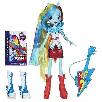 Amazon My Little Pony Equestria Girls Rainbow Dash Doll With Guitar Toys Games