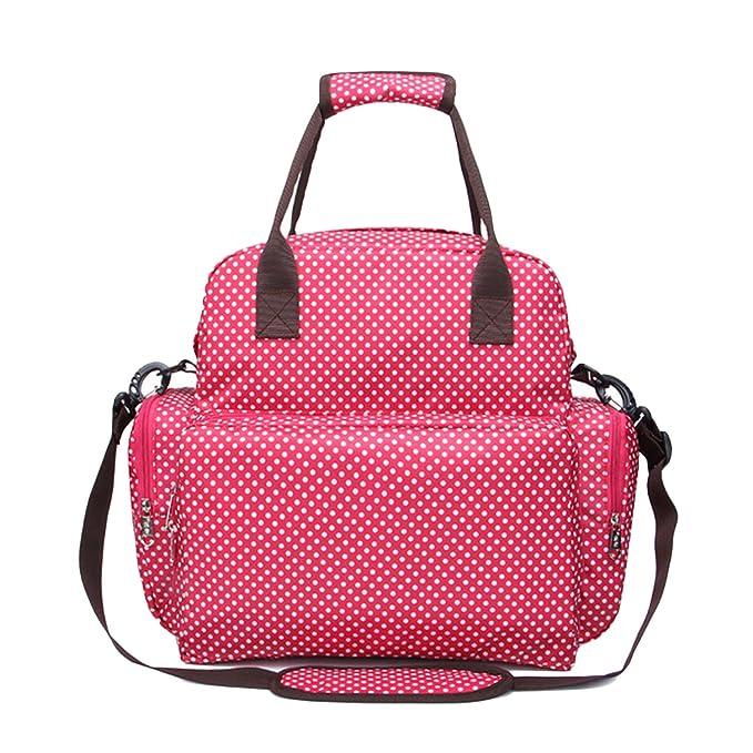 Moda multifuncional de gran capacidad Momia maternidad mochila pañal de bebé pañales bolsa de mano con cambio de almohadilla para viajar al aire libre de ...