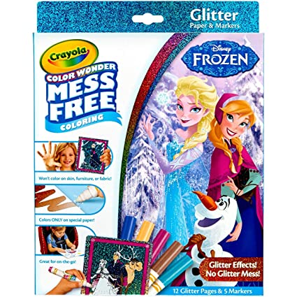 Crayola, Frozen, Color Wonder Mess-Free Coloring Glitter Paper and Markers,  Art Tools, Great for Travel