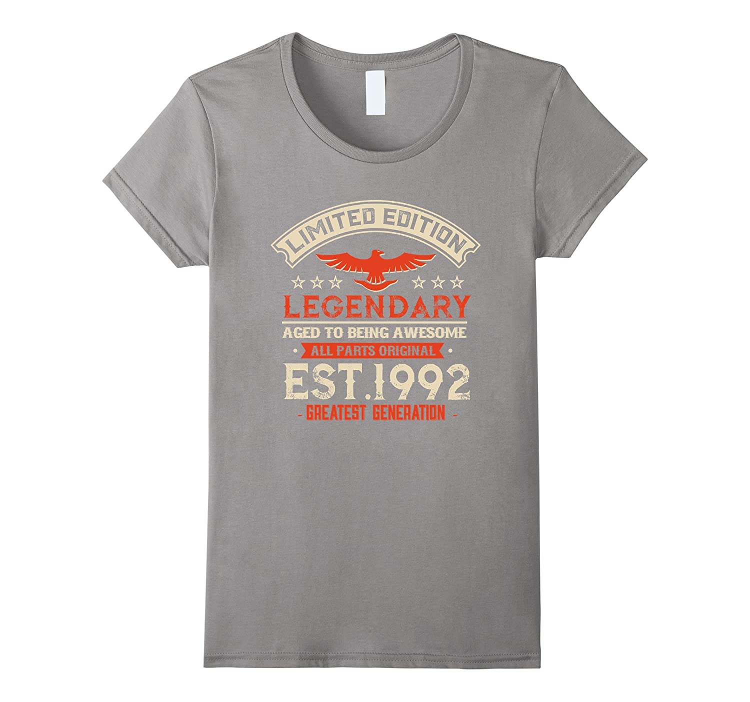1a7726f8c928 Amazon.com  Legends Vintage Made In 1992 25th Birthday Gift 25 years old   Clothing